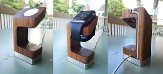 Wood Pedestal Stand Eight Apple Watch Stands That Stand Out Tidbits