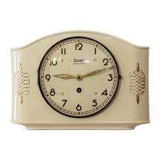art deco porcelain wall clock from garant 1940s for sale at pamono