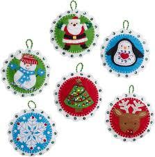 bucilla whimsy ornaments felt applique kit