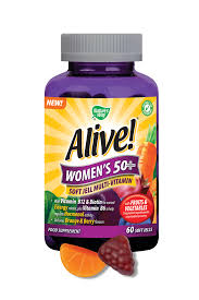 vitamins for hair over 50 alive multivitamin for women over 50 nature s way