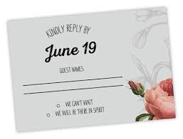 rsvp wedding wedding rsvp wording magnetstreet weddings