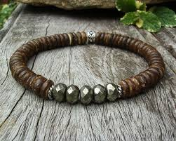 bead bracelet mens images Men 39 s stretch bracelet coconut bead bracelet by bonartsstudio jpg