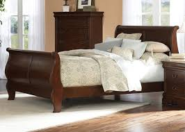 cherry sleigh bed louis philippe sleigh bed 6 piece bedroom set in brown cherry
