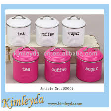 pink tea sugar coffee canisters the coffee table