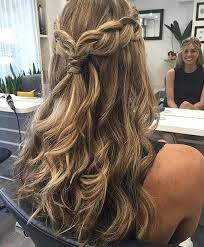 31 half up half down hairstyles for bridesmaids braid crown
