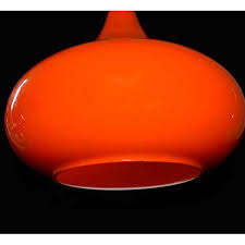 Orange Pendant Light Vintage Scandinavian Teardrop Light 1960s Style