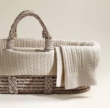 Baby Moses Basket Bedding Set Knit Moses Basket Bedding Ash Basket Set