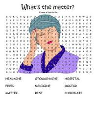 esl printable worksheet health sickness hospitals illness