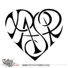 tattoo of p a s r heart bond tattoo custom tattoo designs on