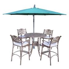 Patio Bar Furniture Sets - hampton bay statesville shell 3 piece outdoor balcony height