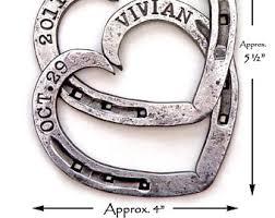 heart shaped horseshoes horseshoe hearts joined by a single nail and blacksmith