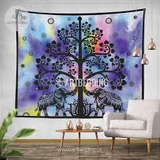 Wall Tapestry Hippie Bedroom Elephant Tapestry Boho Tree Olf Life Wall Tapestry Hippie