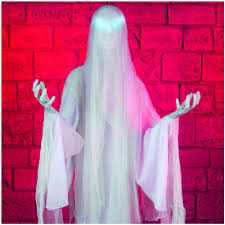 life size animated ghost lady mad about horror