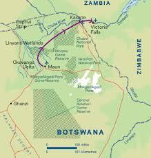 Botswana Map Perfect Trip Botswana Audley Travel