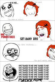 Forever Alone Girl Meme - ragegenerator rage comic forever alone girl at school hot