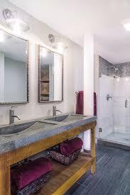 Overhead Vanity Lighting Interior Design Industrial Loft Bathroom U2014 Debbe Daley Design
