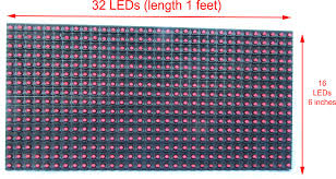 buy p10 32x16 led display matrix low cost in india with