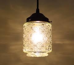 vintage glass pendant light eye satin nickel clear glass schoolhouse light vintage satin nickel