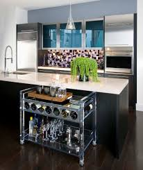 outdoor serving carts kitchen contemporary with abstract tile