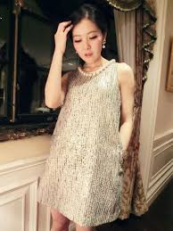 pearls necklace dress images Elegant lady pearl necklace tank dress jpg