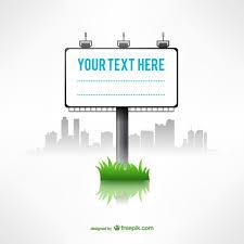 minimalist billboard template free vectors ui download