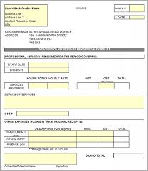 Billing Template Excel Independent Contractor Invoice Template Excel Invoice Exle