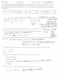 augmented matrix linear algebra quiz solution docsity