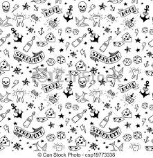old tattoos pattern old tattoos elements vectors