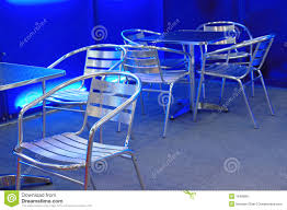 stainless steel table and chairs empty stainless steel chairs and tables stock photo image of cafe
