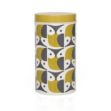 owl kitchen canisters orla kiely canisters and raised stem canister orla
