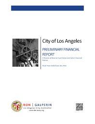 financial report cover page reports la city controller dev site