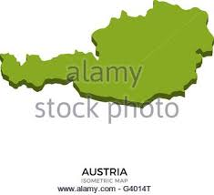 austria map vector detailed vector map of austria and capital city vienna stock