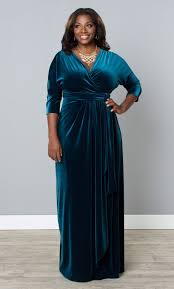 plus size velvet luxe wrap dress empress teal wrapped in luxury