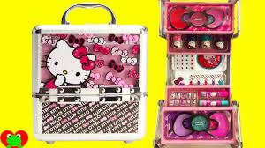 hello kitty cosmetics kids makeup set with nail polish and lip