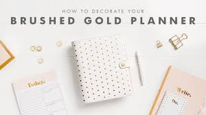 how to get organised with your brushed gold kikki k planner youtube