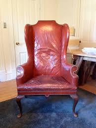 Leather Chair Restoration Vintage Leather Wing Back Chair Restoration U2014 Jaxonmade