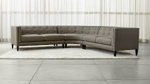 crate and barrel sofa sleeper aidan grey 3 piece sectional sofa crate and barrel