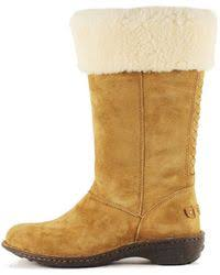 lord ugg arielle dyed sheepskin ugg karyn sheepskin suede mid calf boots in black lyst