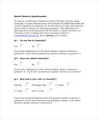 Free Survey Templates For Word by Questionnaire Template Word 8 Free Word Document Downloads
