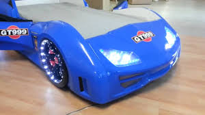 Blue Car Bed Gt999 Race Car Bed Youtube