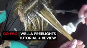 hellocindee go pro wella freelights tutorial review