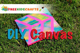 diy painted canvas easy canvas craft for kids youtube