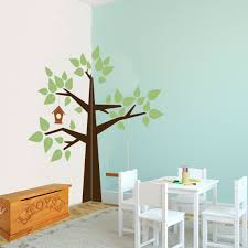 whimsical corner tree nature vinyl wall art decal for kids