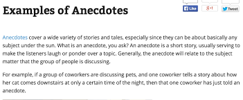 examples of anecdotes in essays amitdhull co