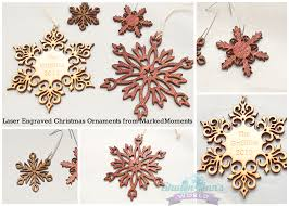 custom wood snowflake christmas ornament from marked moments