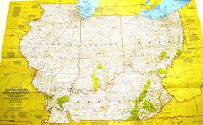Map Of Illinois And Indiana by 1977 Vintage Illinois Indiana Ohio U0026 Kentucky National Geographic