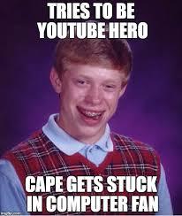 Hero Meme - youtube hero to youtube zero imgflip