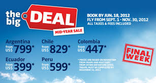 last minute travel deal south america from 399 taxes included