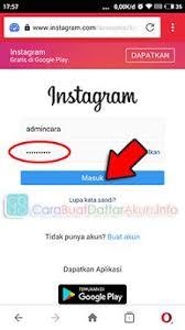 buat akun instagram via operamini buka caranya masuk instagram lewat browser opera mini tanpa