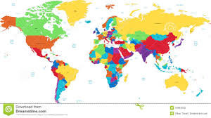 blue world map borders countries and cities illustration